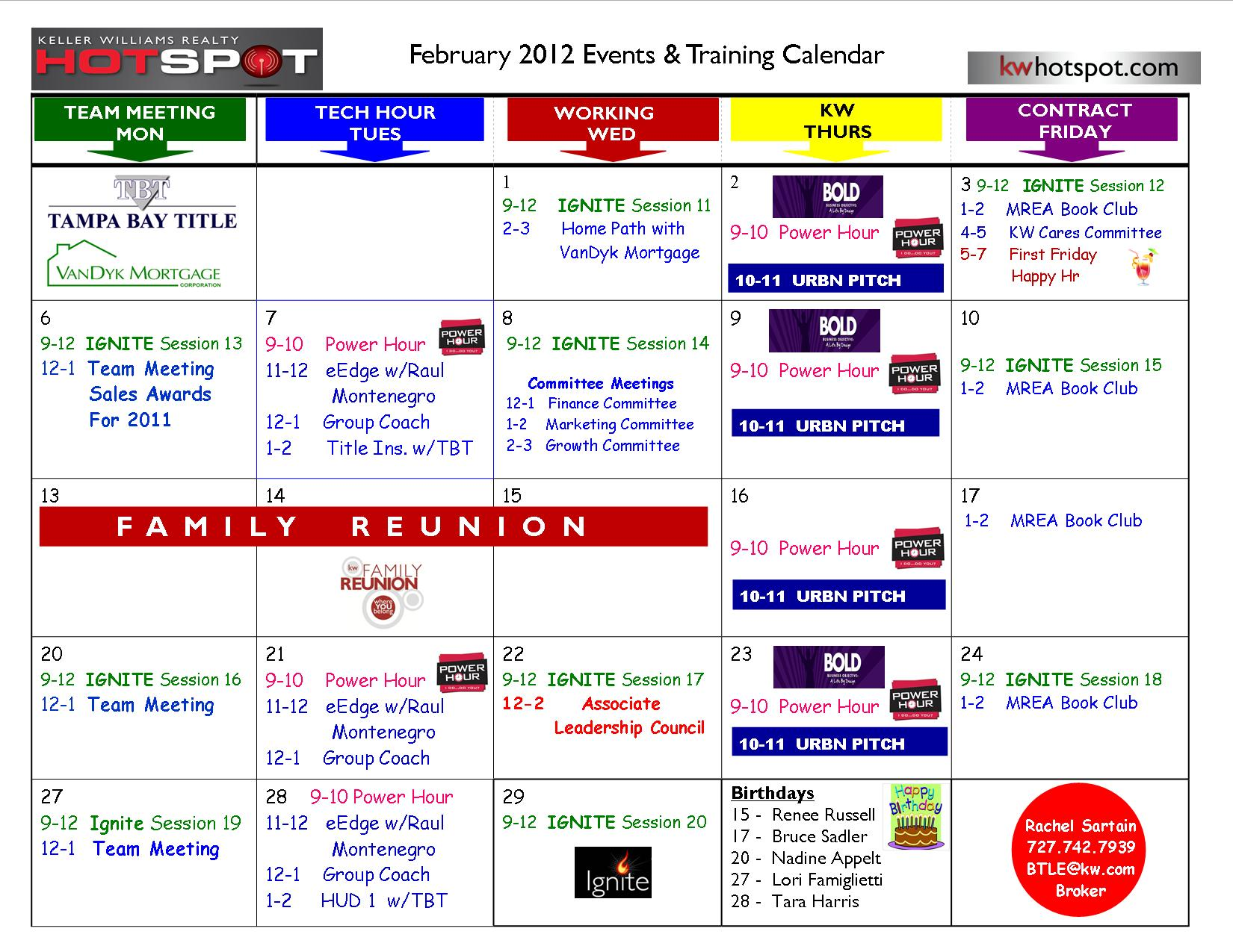 calendar of events template word