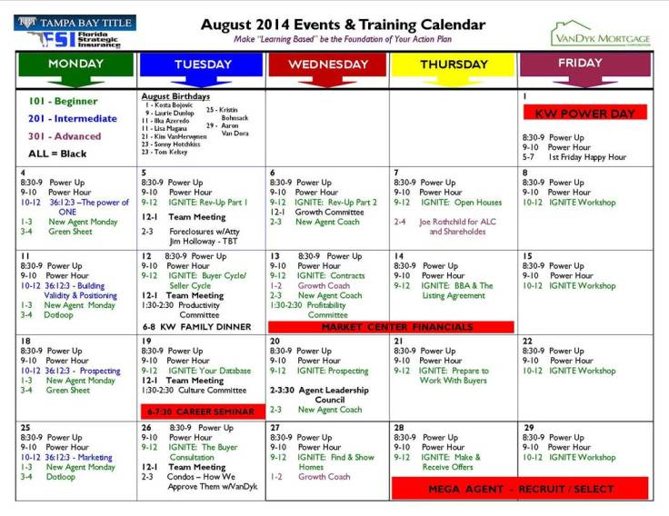august 2014 events